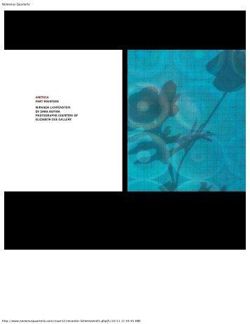 Nomenus Quarterly - Elizabeth Dee