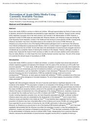 Prevention of Acute Otitis Media Using Available Vaccines (printer ...