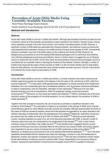 Otitis Externa Treatment & Management