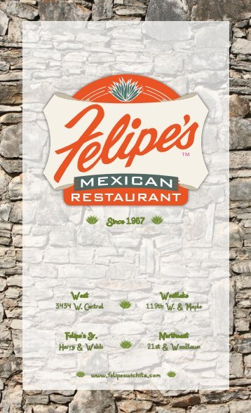 Menu - Felipe's Mexican Restaurant