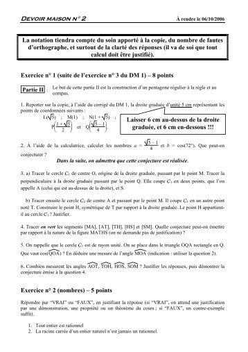 DM 2 - CAPES de Maths