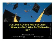 COLLEGE ACCESS AND SUCCESS - Mississippi Board of Trustees ...