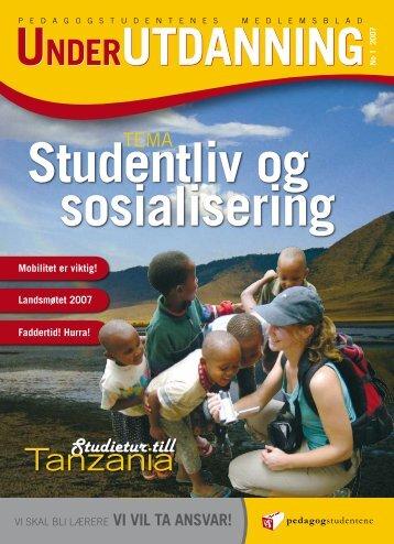Under Utdanning 1/2007 - Pedagogstudentene