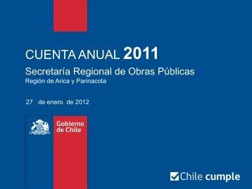 Cuenta Pública Arica y Parinacota 2011 - MOP
