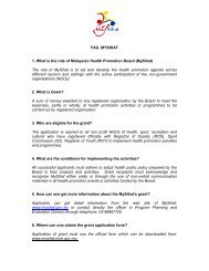 FAQ MYSIHAT 1. What is the role of Malaysian ... - Mysihat.gov.my