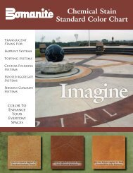 Chemical Stain Standard Color Chart - Heritage Bomanite