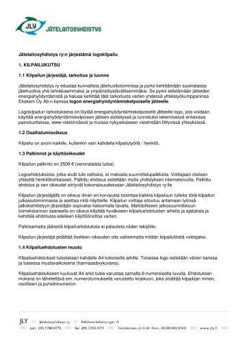 Jätelaitosyhdistys ry:n järjestämä logokilpailu 1 ... - JLY