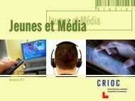 Jeunes et média - Crioc