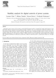 Stability analysis for digital controls of power systems