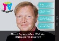 Hervé Payan om hur HBO ska stärka sin roll i Sverige - terminsstart.se