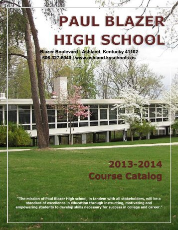 2013 - 2014 Course Catalog - Ashland Independent Schools