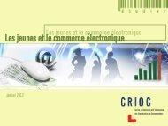 Les jeunes et le commerce électronique - Crioc