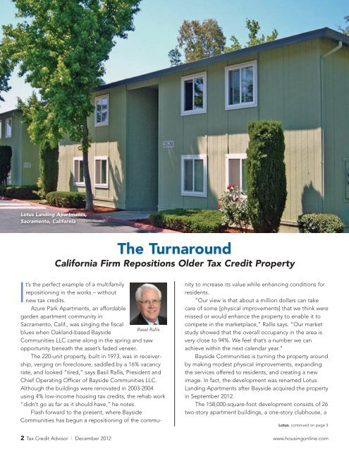 The Turnaround - National Housing & Rehabilitation Association