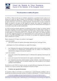Prise de position du CNUE en matière d'E-justice ( 10 octobre 2008 )