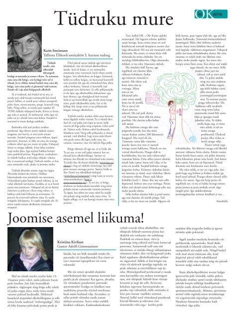 neljas number - Eesti Karskusliit AVE