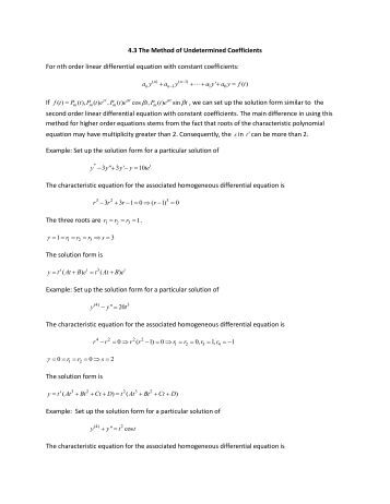 non homogeneous differential equation pdf