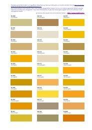 Darstellung der RAL-Farben zur ungefähren Orientierung. Genaue ...