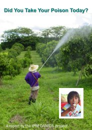 Your poison today - Integrated Pest Management in Thailand
