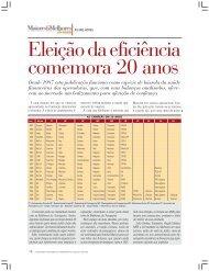 Eleição da eficiência comemora 20 anos - Transporte Moderno