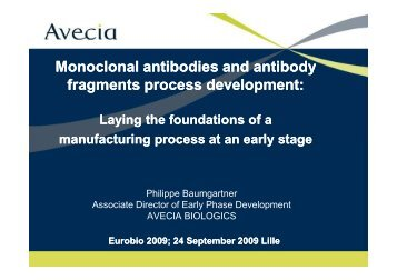 download the presentation - EuroBiO 2009
