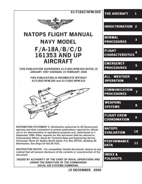 natops flight manual navy model f/a-18a/b/c/d 161353 and up