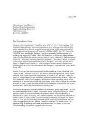 16 June 1999 Commissioner Jane Henney Food and Drug ...