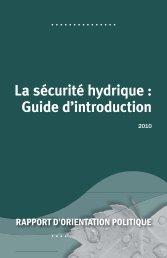 La sécurité hydrique - Program on Water Governance