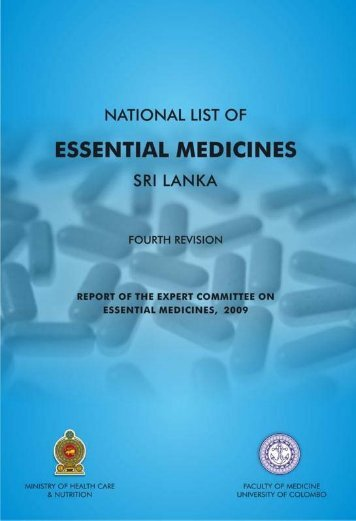 national list of essential medicines sri lanka - World Health ...