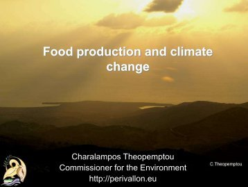 Dealing with food production and climate change ... - ORGANIC DAYS