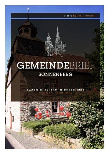 Gemeindebrief - Herz Jesu Sonnenberg