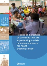 Policies and practices of countries that are ... - libdoc.who.int