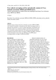 Free radical scavenging activity and phenolic content of ... - Mardi