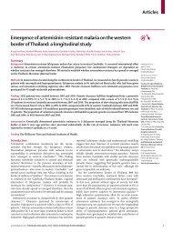 Emergence of artemisinin-resistant malaria on the ... - Koh Tao EMS