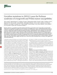 Germline mutations in DIS3L2 cause the Perlman syndrome of ...