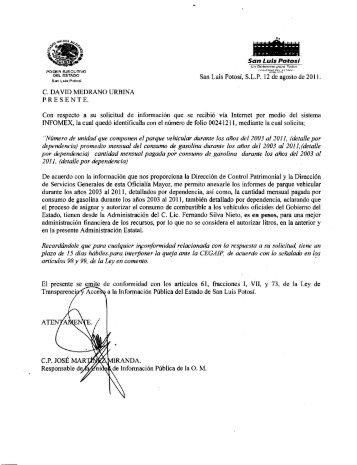 archivo que contiene oficio con la - Documentos de Proyecto Tábano