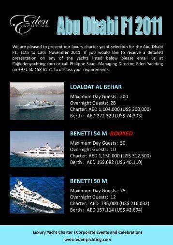 loaloat al behar benetti 54 m booked benetti 50 m - Yacht Charter ...