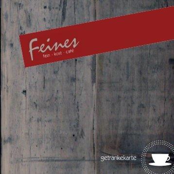 getränkekarte - Feines