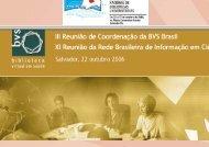 Apresentação do PowerPoint - BVS - Biblioteca Virtual em Saúde