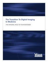 The Transition To Digital Imaging In Medicine - Vidar Systems