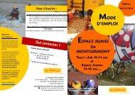 le mode d'emploi - Montgermont