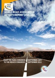 WORLD ROAD ASSOCIATION ACTIVITY REPORT 2008 - 2011