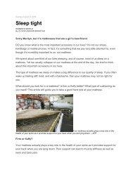 Sleep tight - PrimaNora Medical Centre