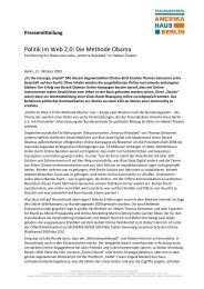 Politik im Web 2.0: Die Methode Obama - America Reloaded