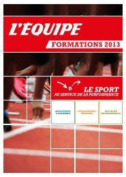 formations 2013 - L'Equipe