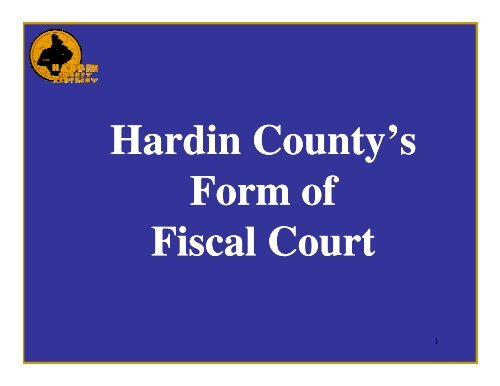 Commissioner - Hardin County Government
