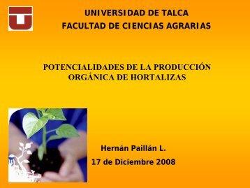 que es producción orgánica - facultad ciencias agrarias