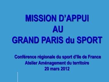 Mission d'appui au Grand Paris du sport - IRDS