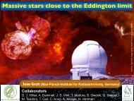 Massive stars close to the Eddington limit