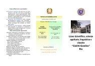 Liceo Scientifico, scienze applicate, linguistico e classico - Licei di Bra