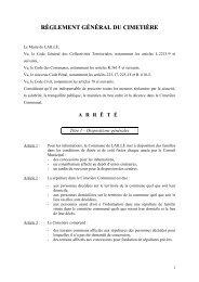 Réglement général du cimetière - Laillé